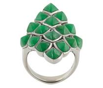 Rautenförmiger Ring aus 925er Sterlingsilber und
