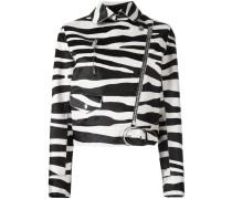- Lederjacke mit Zebra-Print - women