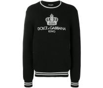 Pullover mit aufgestickter Krone