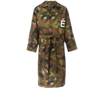 Trenchcoat mit Camouflage-Print
