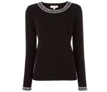 Feinstrick-Pullover mit Kontrastborten