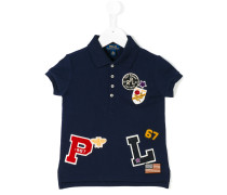 Poloshirt mit Logo-Patches