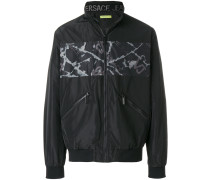 printed key bomber jacket
