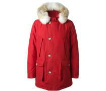 Wattierter Mantel mit kurzer Kapuze