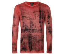Kaschmir-Pullover mit abstraktem Muster