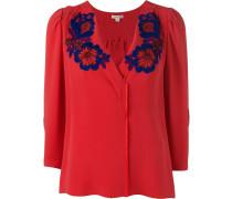 - Bluse mit Blumenstickerei - women