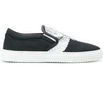 Snakes wings slip-on sneakers