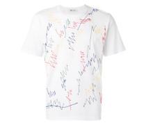 T-Shirt mit Kritzelstickerei