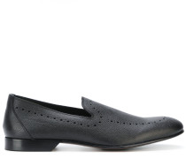 punch hole detailed loafers