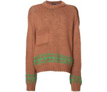 patch pocket intarsia jumper