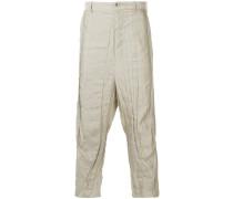 panelled drop-crotch trousers