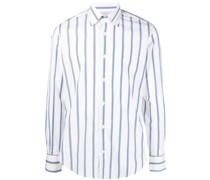 stripe print cotton shirt