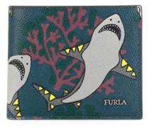 Portemonnaie mit Hai-Print