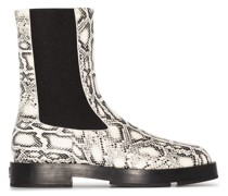 Chelsea-Boots mit Schlangenleder-Print