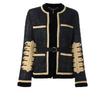 Tweed-Jacke mit goldfarbenen Applikationen