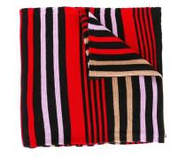 striped colour block scarf