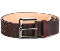 studded embossed belt
