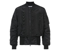 moiré and trompe-l'oeil effect bomber jacket