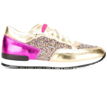 paneled glitter sneakers