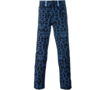 Jeans mit Sterne-Print
