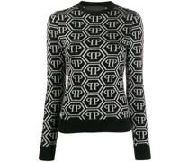 Pullover mit Logo-Muster