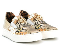 Slip-On-Sneakers mit Leoparden-Print