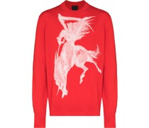 Pullover mit Gotik-Print
