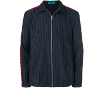 logo stripe shirt jacket