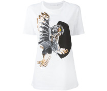 "T-Shirt mit ""Mechanical Owl""-Print"