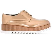 Geschnürte Flatform-Schuhe