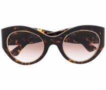 tortoiseshell round-frame sunglasses
