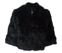 zip-up fur jacket