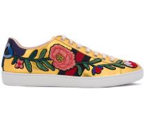 'Ace' Sneakers mit Blumenstickerei - women