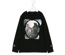 Sweatshirt mit Roboter-Print