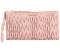 pleated clutch bag