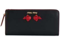 Portemonnaie mit Schleifenapplikation