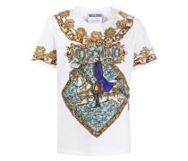 T-Shirt mit Schal-Print