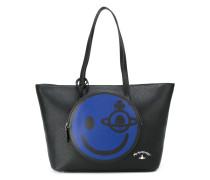 Handtasche mit Smiley-Fach