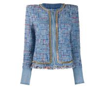 Tweed-Blazer im Cropped-Design