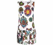 Kleid mit Wappen-Print