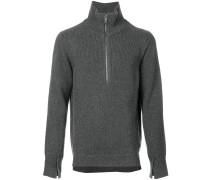 zip-neck sweater