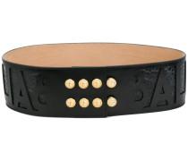 embossed logo waist belt