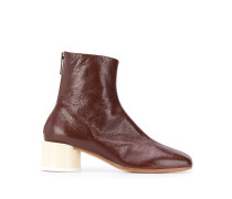 ankle-length block heel boots