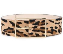 Gürtel mit Leoparden-Print