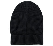 ribbed detail beanie hat
