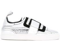 Slip-On-Sneakers im Metallic-Look
