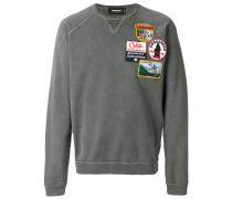 appliqué patch sweater