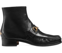 Stiefel aus Leder mit Horsebit