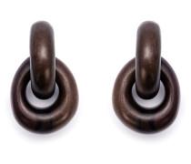 Ohrclips aus Holz