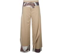 Weite Hose im Patchwork-Stil